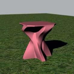 Descargar modelo 3D gratis Mesa lateral de hormigón, re3D