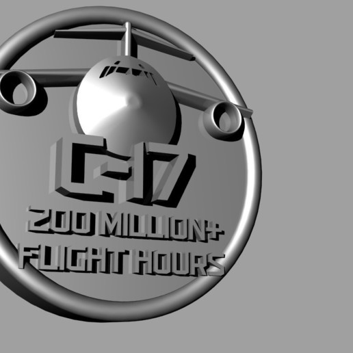 c17_2.jpg Download free STL file C-17 Flight Token (Additive Manufacturing Olympics) • 3D printable object, re3D