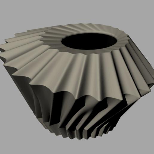 Download free STL file Ruffle Planter • 3D print template, re3D