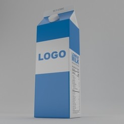 1.jpg Download STL file Milk Pack • 3D printing template, illusioncreators1979