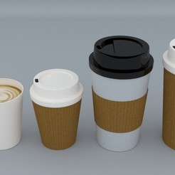 1.jpg Download STL file Coffee Cup • 3D printing template, illusioncreators1979