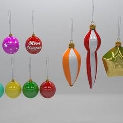 Impresiones 3D Bulbos de árbol de Navidad, illusioncreators1979