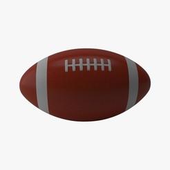 1.jpg Download STL file American Football • 3D printer template, illusioncreators1979