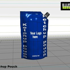 Download 3D printer designs Ketchup Pouch, illusioncreators1979