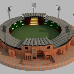 1.jpg Download STL file Qaddafi Cricket Stadium • 3D printing model, illusioncreators1979