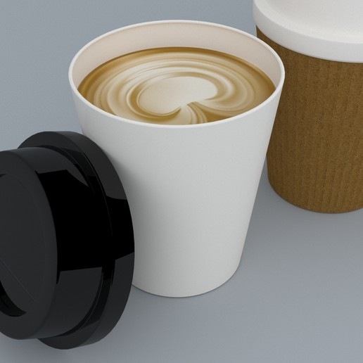 5.jpg Download STL file Coffee Cup • 3D printing template, illusioncreators1979