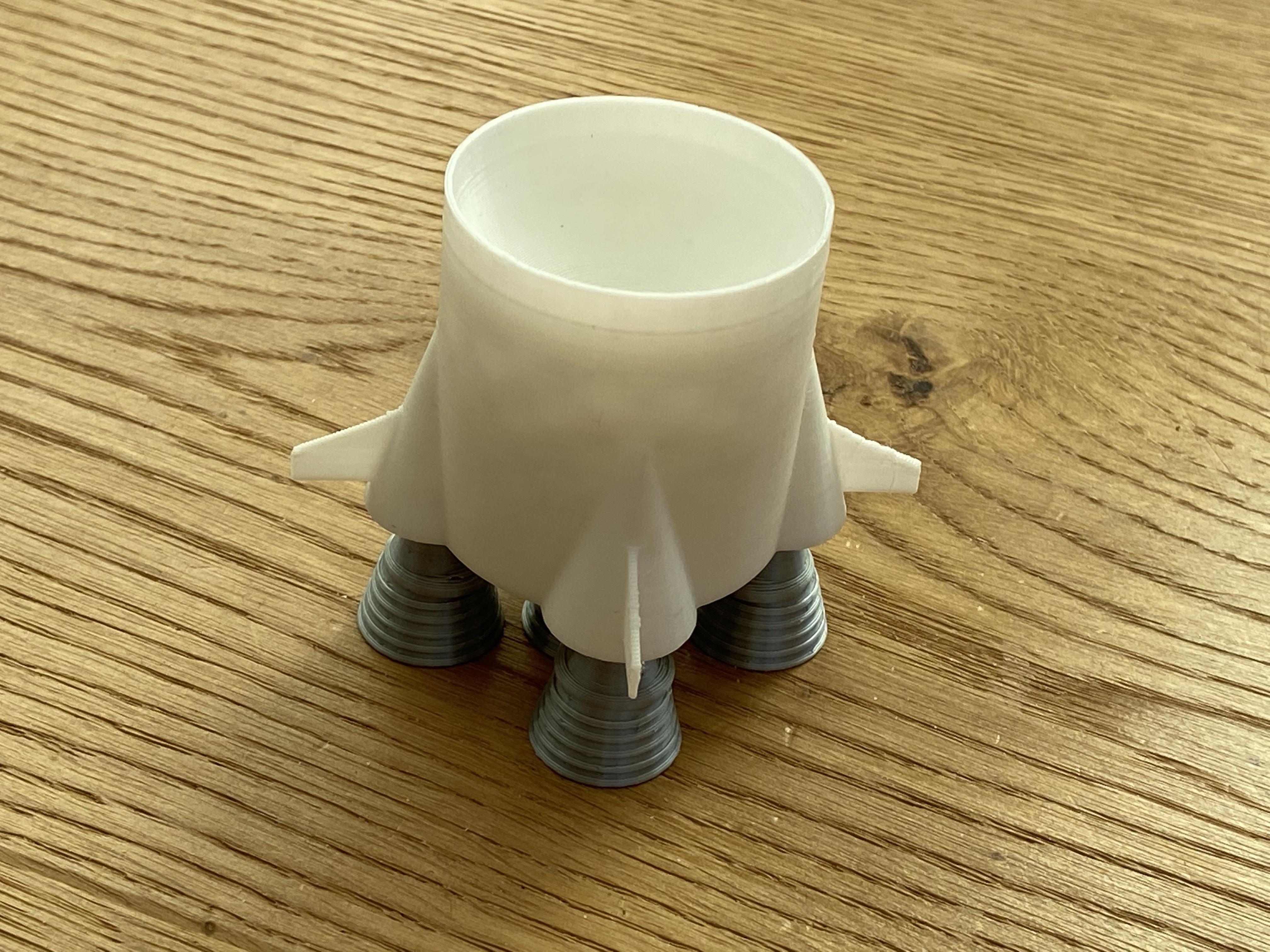 IMG_6002.JPG Download STL file Saturn V Egg Cup • 3D print template, da_syggy