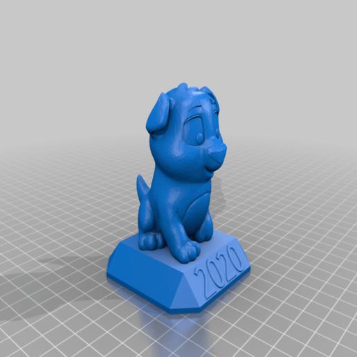 Niko_the_Puppy_2020.png Télécharger fichier STL gratuit Niko le chiot 2020 • Objet pour imprimante 3D, da_syggy