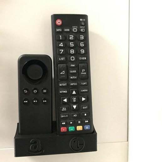 IMG_2997.JPG Télécharger fichier STL gratuit Support mural pour Amazon Firestick et télécommande LG TV • Modèle pour impression 3D, da_syggy