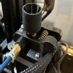IMG_5093_1.JPG Download free STL file Flexible Filament Extruder with Cable Holder for CR10, CR10 Mini, Ender 3 • 3D print model, da_syggy
