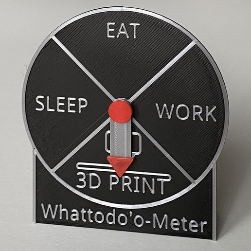 IMG_6096.JPG Download STL file Whattodo'o Meter • 3D printable template, da_syggy
