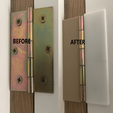 Download free 3D print files clip-on hinge covers for simple hinges, da_syggy