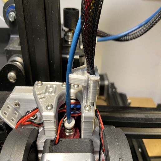 Télécharger plan imprimante 3D gatuit Hydra Entretoise de conduit de ventilateur bowden, da_syggy