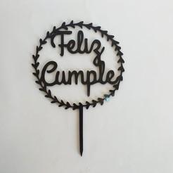 Feliz cumple hojas.jpg Download STL file Happy Birthday Leaf • 3D printing object, florvargas392