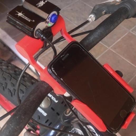 Télécharger objet 3D gratuit Support pour téléphone et lampe, atadek2