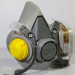 IMG_20200208_183551_2.jpg Télécharger fichier STL gratuit Bouchon filtrant pour masque 3M • Design pour impression 3D, oksnake