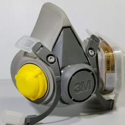 Download free 3D printer designs Filter Cap for 3M Mask, oksnake