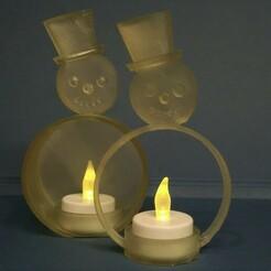 IMG_20201217_221450 (2).jpg Download STL file snowman tealight • 3D printable template, pgraaff