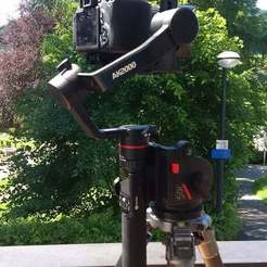IMG_20190619_113755.jpg Download free STL file Feiyu Tech AK2000 gimbal holder with Manfrotto 501 plate • 3D printing template, pgraaff