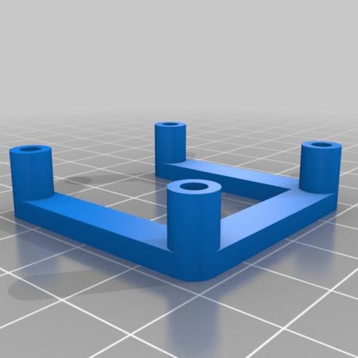 b70ef897110632719affc670e095814f.png Télécharger fichier SCAD gratuit espaceur NEMA 17 personnalisable • Modèle à imprimer en 3D, pgraaff