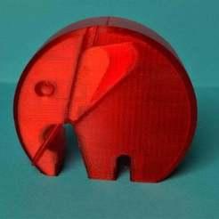 Télécharger fichier 3D gratuit éléphant moderne danois avec oreilles et défenses, pgraaff