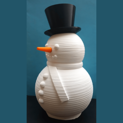 Télécharger fichier STL bonhomme de neige_V3 en plusieurs parties • Design pour imprimante 3D, pgraaff