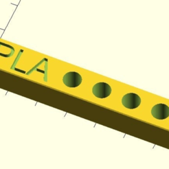 Download free SCAD file customizable Mk8 nozzle plate V2 • 3D print template, pgraaff