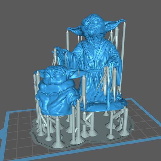 Descargar diseños 3D gratis Yoda y el niño, pgraaff