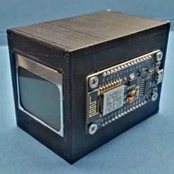 Imprimir en 3D gratis ESP8266 NOKIA5110 Caja DHT22, pgraaff
