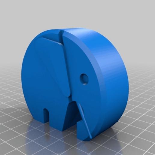 0ba92adea2eb08986ff104a837df97d9.png Télécharger fichier STL gratuit éléphant moderne danois avec oreilles et défenses • Modèle imprimable en 3D, pgraaff