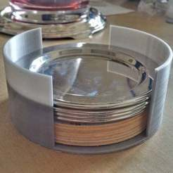 Download free 3D printer templates glass coasters container, pgraaff