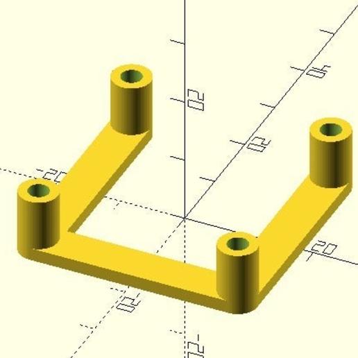 NEMA-17_spacer.PNG Télécharger fichier SCAD gratuit espaceur NEMA 17 personnalisable • Modèle à imprimer en 3D, pgraaff
