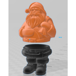 Download free 3D printing templates Santa Claus gift box, pgraaff
