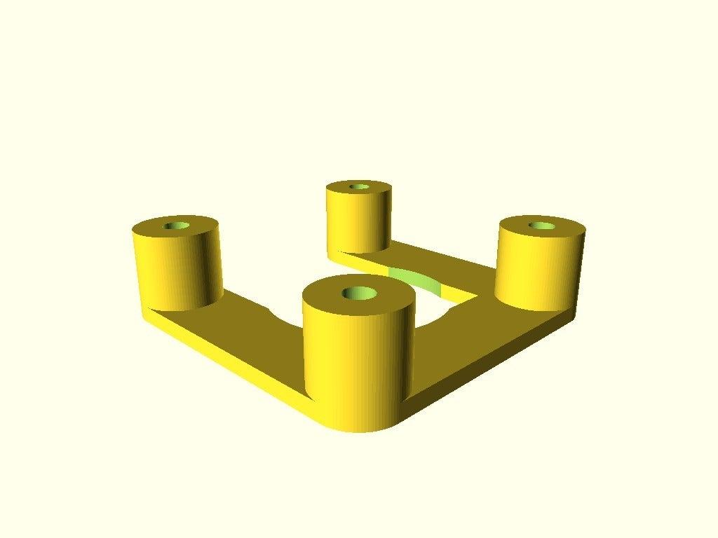 dcaccf8bd894c9f834fcdcc4354790b2.png Télécharger fichier SCAD gratuit espaceur NEMA 17 personnalisable • Modèle à imprimer en 3D, pgraaff