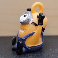 Download free 3D printing models happy minion key chain, pgraaff