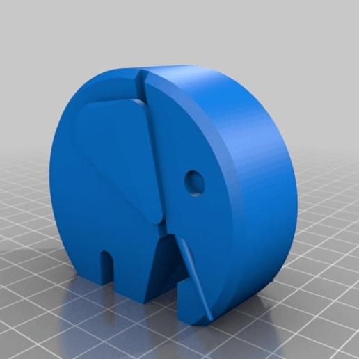 380bd5293de439d6166cbc89f01147d1.png Télécharger fichier STL gratuit éléphant moderne danois avec oreilles et défenses • Modèle imprimable en 3D, pgraaff