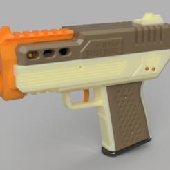 Descargar archivos STL gratis FP-68 Grass Snake Compact FTW volante de inercia pistola espuma blaster, FreedomBlasters