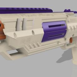 Descargar Modelos 3D para imprimir gratis FR-1H Viper Heavy Revólver de volante de inercia de dardos completo Sistema FTW Blaster de espuma, FreedomBlasters
