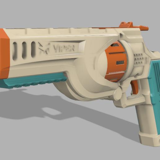 Download free 3D printer designs FR-1 Viper flywheel revolver FTW system foam blaster, FreedomBlasters