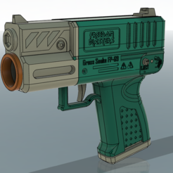 Capture2.PNG Download STL file Grass Snake V2 talon mag Nerf flywheel blaster FP-69 half darts • Model to 3D print, FreedomBlasters