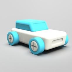 Télécharger STL gratuit Minimaliste Auto à assembler, GtoysLAB