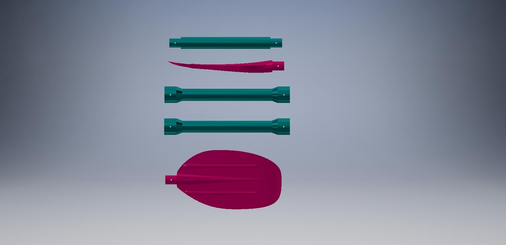 555666.jpg Download free STL file Paddle/Весло • 3D printing design, MaKs