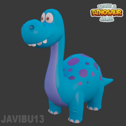 dinomei_cults3d.png Download STL file Diplodocus - Cartoon Style - 3D Print - Dinomei • 3D print design, Javibu13