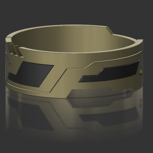 bague cyberpunk 3D.PNG Télécharger fichier STL gratuit Bague inspirée de Cyberpunk • Design imprimable en 3D, Arock56