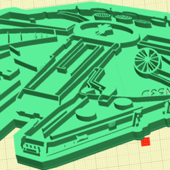 Descargar modelos 3D para imprimir Falcon Millenium STAR WARS COOKIE, julianrodr