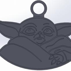 Descargar modelo 3D llavero yoda STAR WARS THE MANDALORIAN, julianrodr