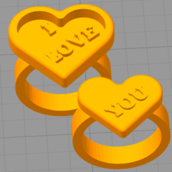 Download free STL files VALENTINE'S DAY RINGS, JMR3D