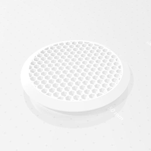 Download free 3D printer designs Vent cover round hexagonal, mato4mato