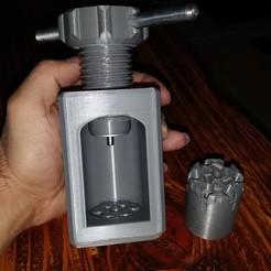 Download 3D printing models REMIGTON 1858 44 barrel press, CREAB