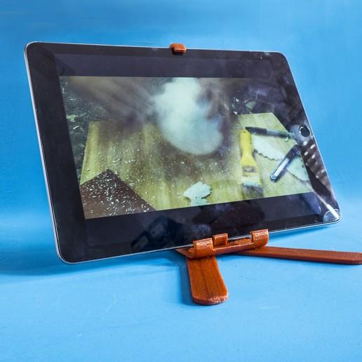 F09.jpg Download free STL file Adjustable Belly Tablet Stand • 3D printable template, dancingchicken